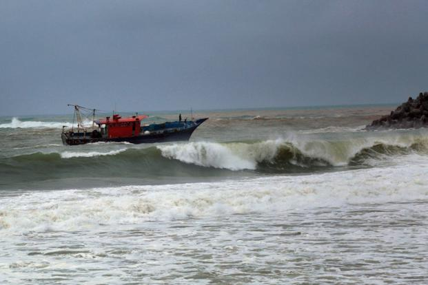 Cyclone Ockhi barrelled into the Lakshwadeep today after drenching Kerala, Tamil Nadu, claiming so far around 14 lives with many fishermen still feared trapped at sea. Photo: PTI