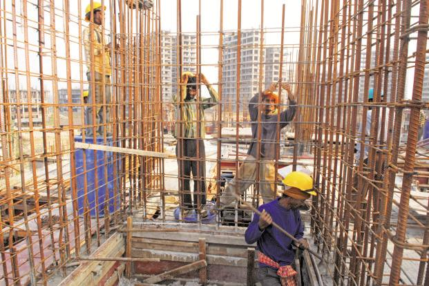 The growth rate of construction, even though it has improved marginally, continues to show signs of stress. Photo: Indranil Bhoumik/Mint