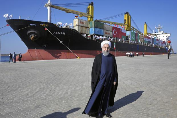 Iranian President Rouhani inaugurates first phase of Chabahar Port
