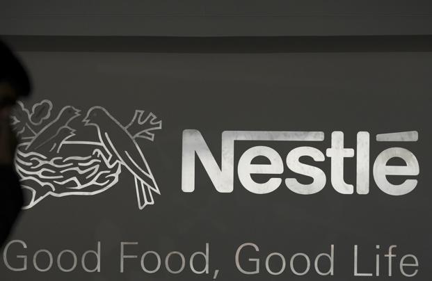Nestle shares settled 0.30% lower at Rs7,680.35 on the BSE. Photo: AFP