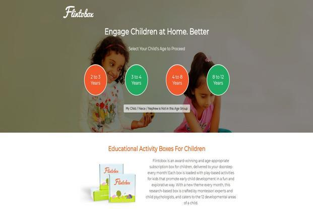 Flinto Learning Solutions offers activity-based learning kits for children under the Flintobox brand.
