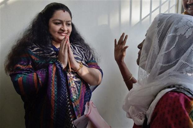 A file photo of Deepa Jayakumar, niece of late J. Jayalalithaa. Photo: PTI