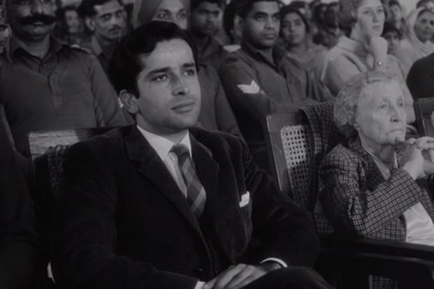 Actor Shashi Kapoor in a still from 'Shakespeare Wallah'.
