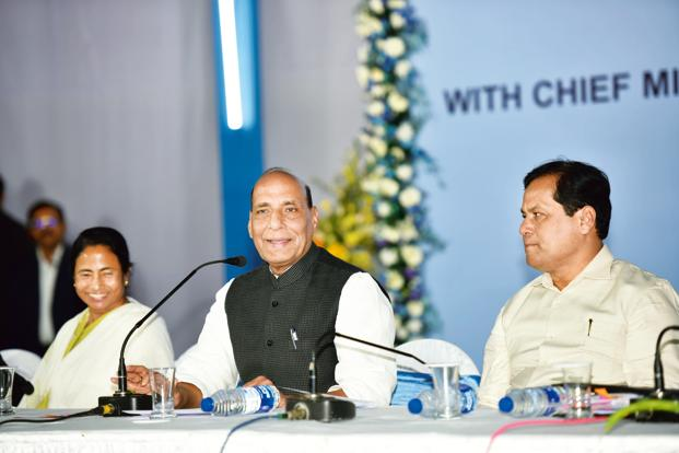 Rajnath talks Darjeeling, border safety with Didi