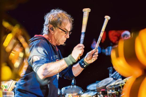 Mickey Hart during a concert in Chicago. Photo: AP