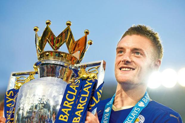 In 2010, Jamie Vardy was playing in the seventh tier of English football. Six years later, he lifted the Premier League trophy with Leicester City. Photo: Getty Images