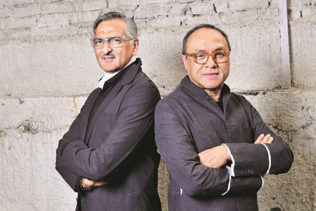 Rakesh Thakore (left) and David Abraham at their atelier in Noida. Photo:  Priyanka Parashar/Mint