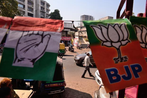 Out of the 822 candidates, 199 (24%) are crorepatis. Among the major parties 66 (77%) out of 86 candidates from BJP; 67 (76%) out of 88 candidates from the Congress have declared assets worth more than Rs1 crore, the ADR report claimed. Photo: Pradeep Gaur/Mint