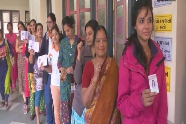 As many as 21,231,652 people are expected to exercise their franchise at 24,689 polling booths in first phase of Gujarat elections. Photo: ANI/Twitter