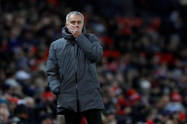 Reports said Jose Mourinho had a verbal altercation with Manchester City goalkeeper Ederson before having water and milk thrown at him by City's players and being hit on the head with a plastic bottle. Photo: Reuters