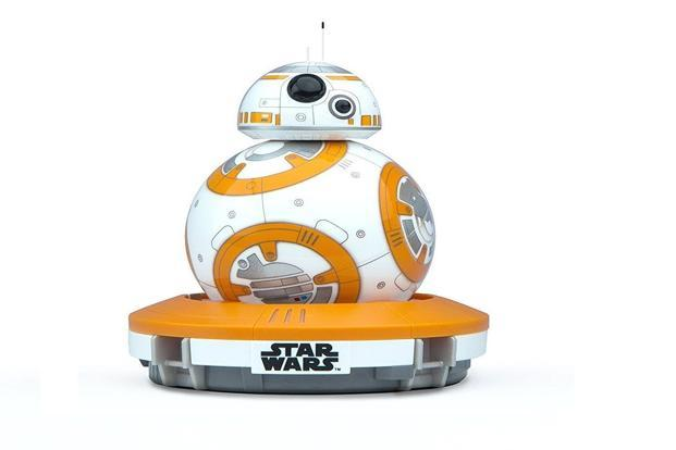 Sphero Star Wars BB-8 Robot is made of polycarbonate plastic and is splash resistant.