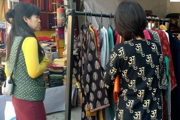 The Winter Mela by Dastkar focuses on textiles and crafts.