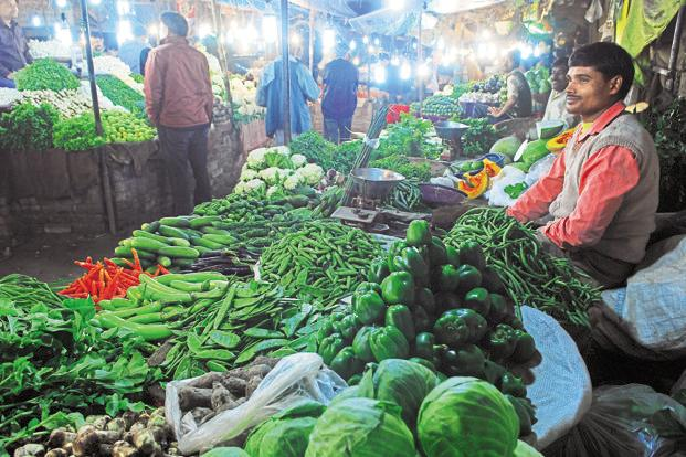To be sure, the inflation spike is also thanks partly to the so-called base effect—in November last year, wholesale vegetable prices had fallen 17% year on year. Photo: Pradeep Gaur/Mint