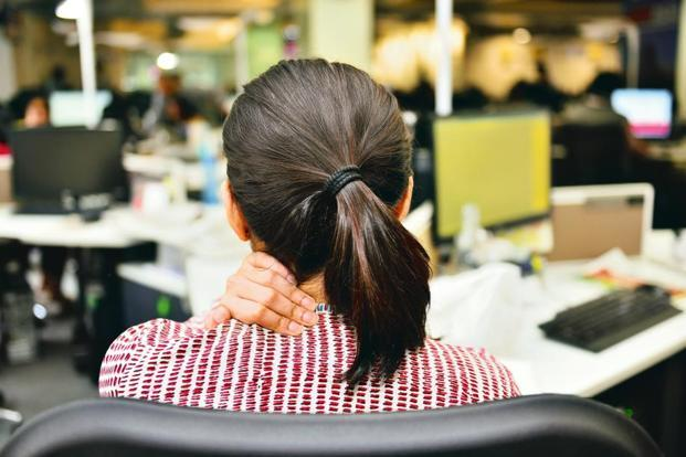 Self-soothing gestures like touching the back of your neck can be taken as a sign that you are low on confidence. Photographs by Priyanka Parashar/Mint