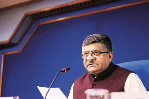 Following debate over net neutrality, Ravi Shankar Prasad as the telecom minister had set up a panel of officers from the Department of Telecom to examine the matter and come up with recommendations. Photo: Pradeep Gaur/Mint