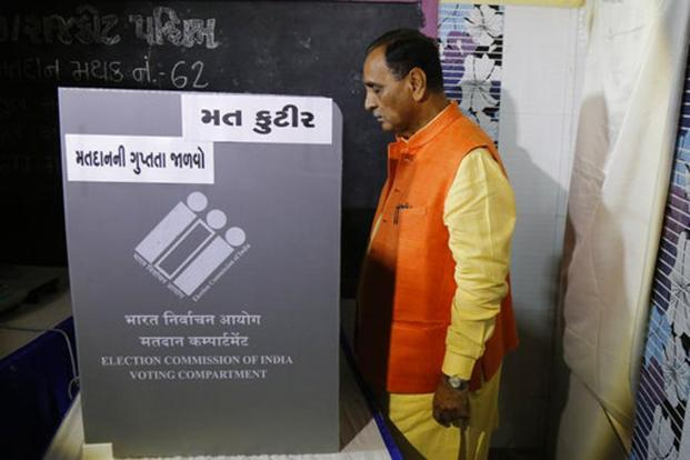 Gujarat Chief Minister Vijay Rupani wins in west Gujarat with 21000 votes