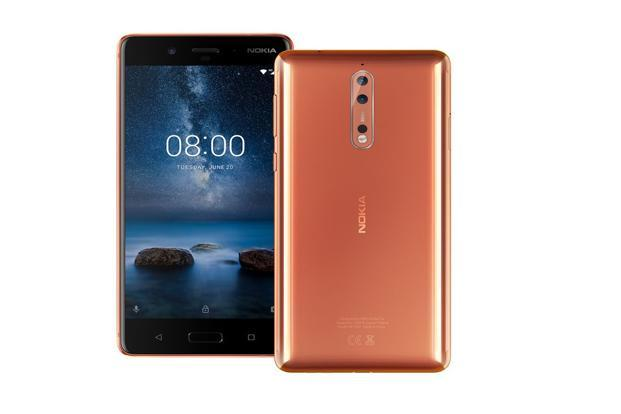 It is hard to overlook the Nokia 8, especially the polished copper variant. It has a metal body with curved edges and is just 7.9mm thick.