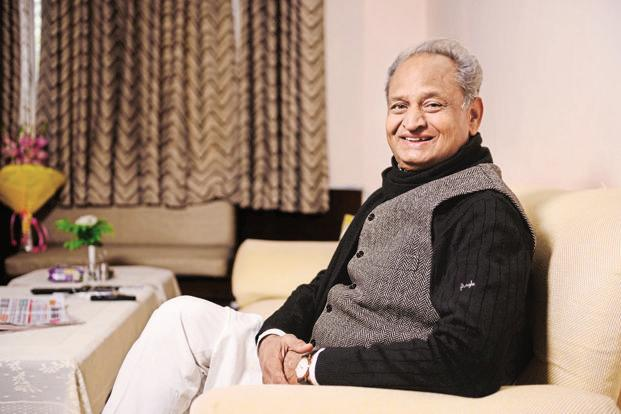 Former Rajasthan chief minister Ashok Gehlot is largely credited for the Congress putting up a tough fight against BJP in the Gujarat elections. Photo: Pradeep Gaur/Mint