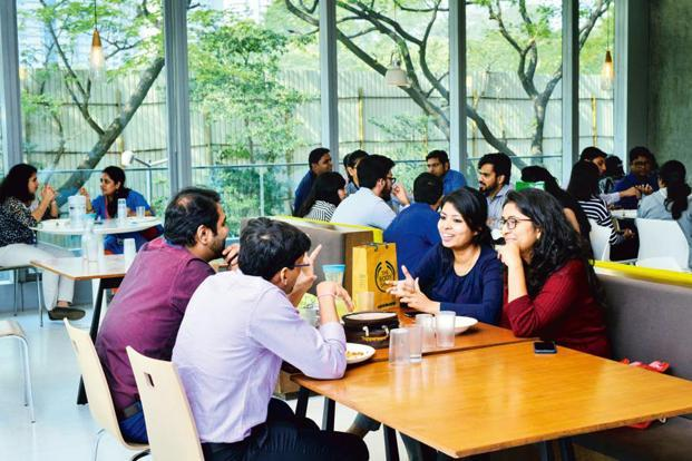 The bright and airy Godrej food court. Photo: Aniruddha Chowdhury/Mint