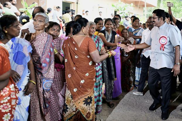 TTV Dhinakaran surges ahead, AIADMK, DMK continue to trail
