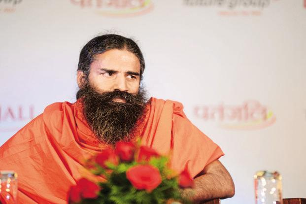 Baba Ramdev. Patanjali Ayurved will set up a agriculture and herbal processing unit in Bijetala village of Rajnandgaon district. Photo: Ramesh Pathania/Mint