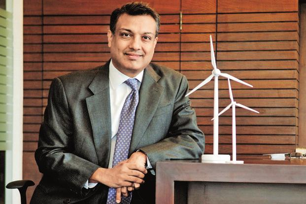 ReNew Power Ventures CEO Sumant Sinha. ReNew Power has set a target of over 11GW of wind and solar power capacity over the next five years. Photo: Pradeep Gaur/Mint