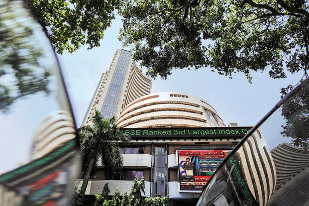 Equity indices drop from day's highs, Sensex closes below 34k