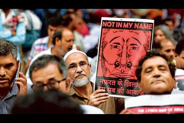 #NotInMyName began trending as several cities organized their own marches. Photo: Raj K Raj/Hindustan Times