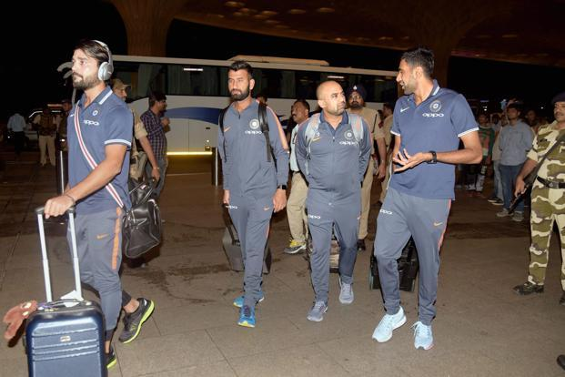 India, who have never won a Test series in South Africa, arrived here last night after a long flight from Mumbai. Photo: PTI