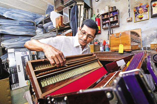 A harmonium being repaired at Haribhau Vishwanath Co. Photographs by Aniruddha Chowdhury/Mint