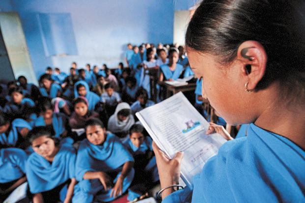 In 2017, the school sector had a budget allocation of Rs46,356 crore. Photo: Mint