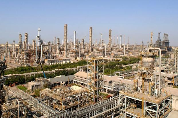 A file photo. The ROGC complex has a unique configuration as it uses off-gases from RIL's two refineries at Jamnagar as feedstock. Photo: AFP