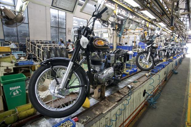 Royal Enfield, the two-wheeler division of Eicher Motors, on Tuesday reported 16.67% growth in total sales at 66,968 units in December. Photo: Mint
