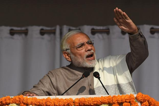 PM Narendra Modi. India's fiscal deficit in the first eight months of the financial year that ends in March is already at 112% of the full-year goal. Photo: AFP