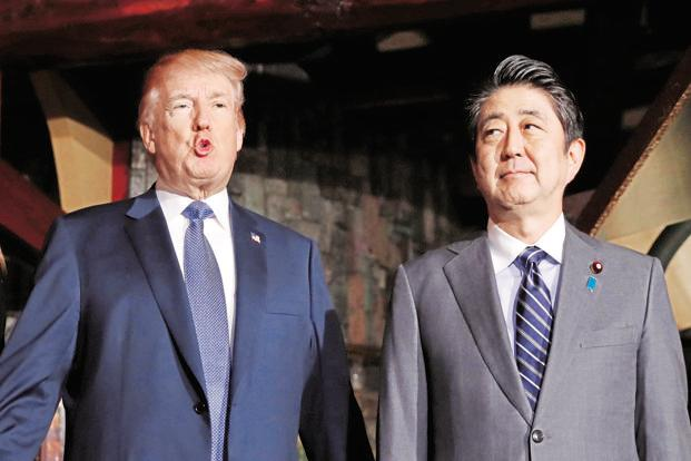 The bond between Japanese Prime Minister Abe and US President Donald Trump will be tested early and often in 2018 as trade tensions mount. Photo: Reuters
