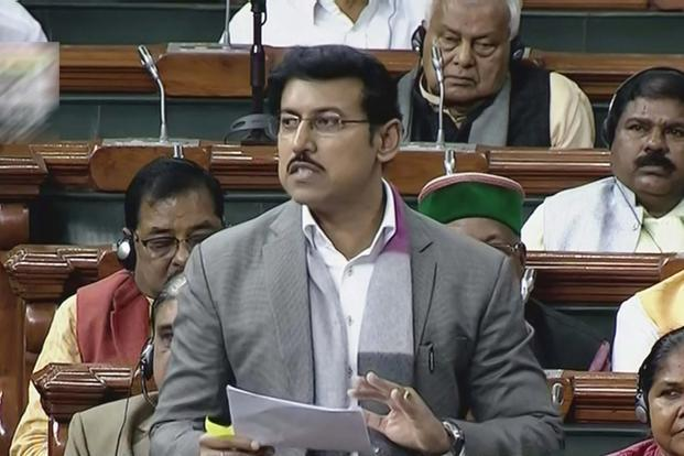 Minister of state for information and broadcasting Rajyavardhan Singh Rathore. Photo: PTI