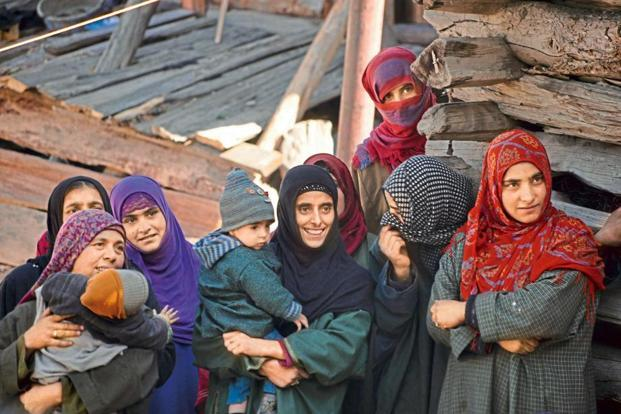 Dard women with their children in Gurez Valley of Kashmir. Photographs by Shail Desai