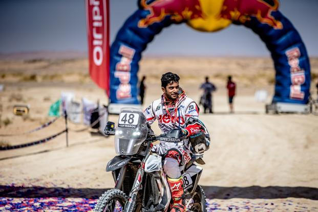 In 2015, C.S. Santosh, then 32, became the first Indian to participate in the Dakar Rally, arguably the most dangerous in the world, and even managed to complete it in his first attempt. Photo: Hero MotoSports