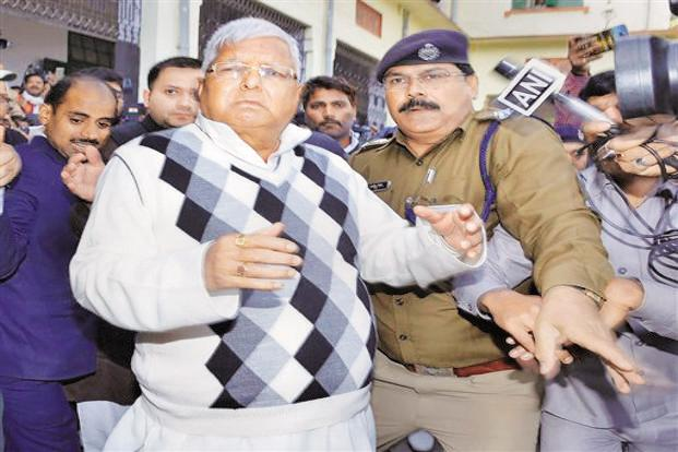 Fodder scam: RJD Chief Lalu Prasad sentenced to 3.5 years in jail