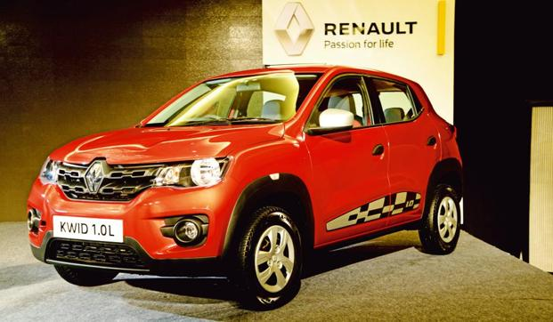 The Renault Kwid. The new global compact car will be less than four metres in length and is expected to make its debut in India in 2019. Photo: Ramesh Pathania/Mint