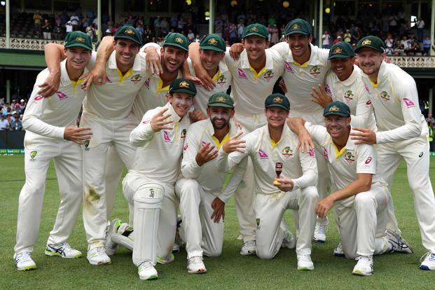 Australia's quartet of bowlers combined for 90 wickets across the series—each taking at least 20—the tourists tried nine bowlers across the five tests for a paltry return of 58 wickets, which was the second-fewest by an England squad ever in a five-test Ashes tour. Photo: AFP