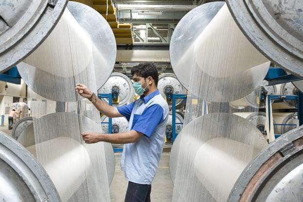 Shares of Welspun India were trading 2.23% higher at Rs73.40 per scrip on BSE. Photo: Mint