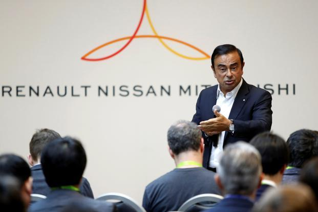 Carlos Ghosn, chairman of the Renault, Nissan and Mitsubishi alliance. Renault and Nissan will each fund 40% of Alliance Ventures—which will be co-located in Silicon Valley, Paris, Beijing and Yokohama, Japan—while Mitsubishi will contribute the rest. Photo: Reuters