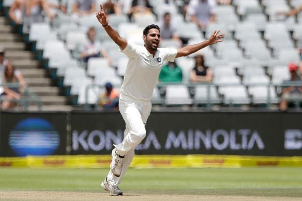 The one silver lining in India's humiliating defeat by South Africa in Cape Town was the performance of India's fast bowling attack led by Bhuvneshwar Kumar, Jasprit Bumrah and Mohammed Shami. Photo: AFP