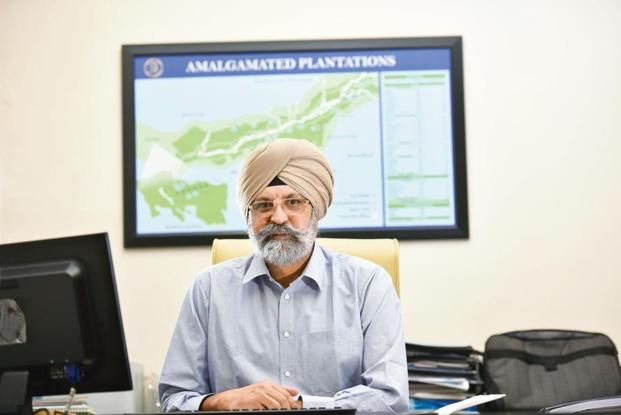 Jagjeet Singh Kandal, MD of Amalgamated Plantations. Amalgamated Plantations produces around 43 million kg of tea a year, of which 26 million kg is made from its own tea crop. Photo: Indranil Bhoumik/Mint