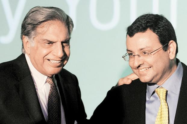 A file photo of Ratan Tata and Cyrus Mistry. Photo: AFP