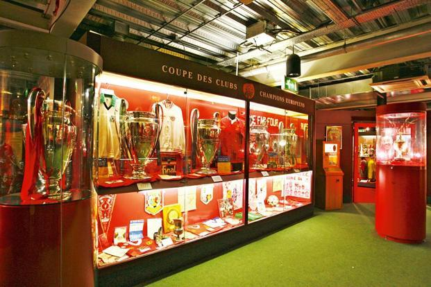 The trophy cabinet at Anfield. Photo: Getty Images