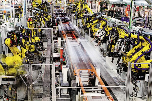 Manufacturing sector, which constitutes 77.63% of the IIP, recorded an impressive growth of 10.2% in November as compared to 4% a year ago. Photo: Bloomberg