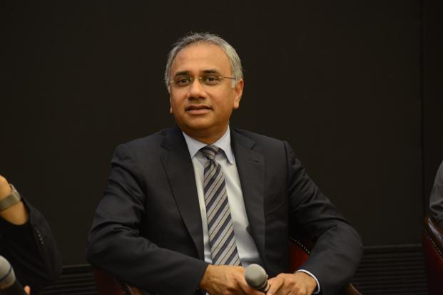 Infosys CEO Salil Parekh is conducting a review structured around four dimensions, namely, new market opportunities, client relationships, people, and service offering portfolio. Photo: Hemant Mishra/Mint