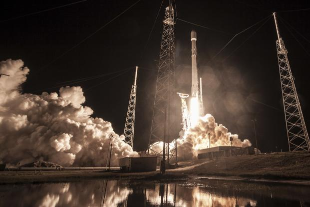 SpaceX shows the launch of the Falcon 9 rocket at Cape Canaveral Florida for the'Zuma US satellite mission